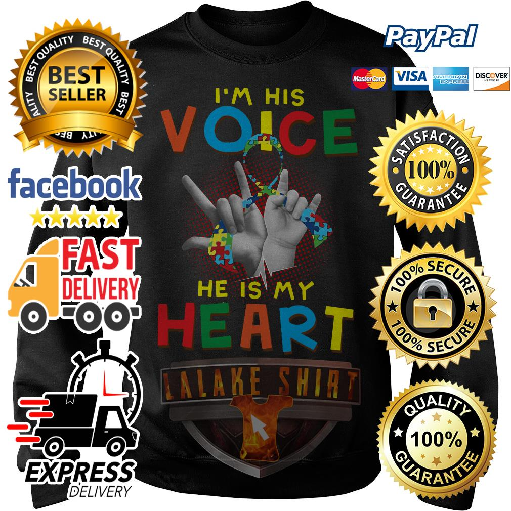 Autism I am his voice he is in my heart Sweater