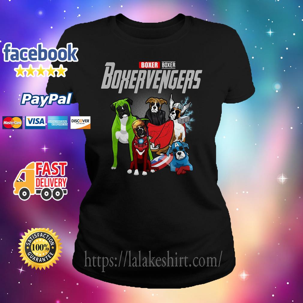 Boxer Boxer Boxervengers Avenger Ladies tee