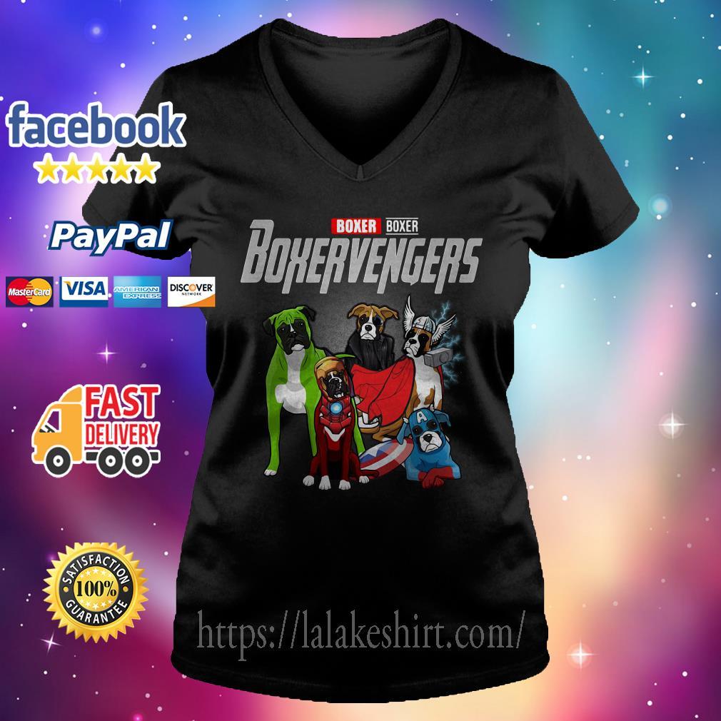 Boxer Boxer Boxervengers Avenger V-neck t-shirt