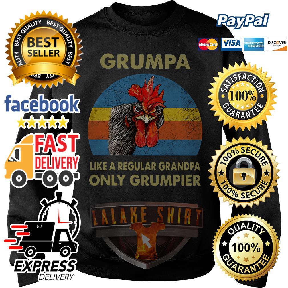 Chicken Grumpy like a regular grandpa only grumpier vintage Sweater