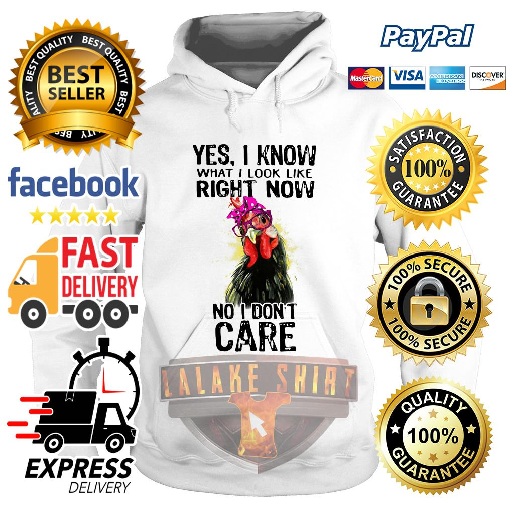 Chicken Yes I know what I look like right now no I don't care Hoodie