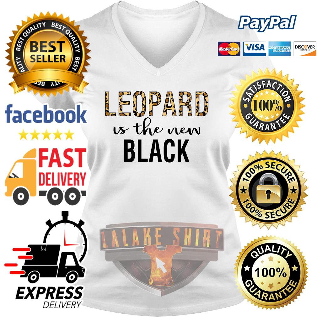 Leopard is the new black V-neck t-shirt