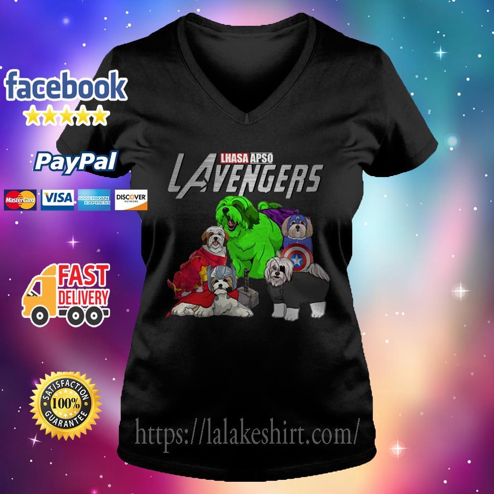 Lhasa Apso Lavengers Avenger V-neck t-shirt