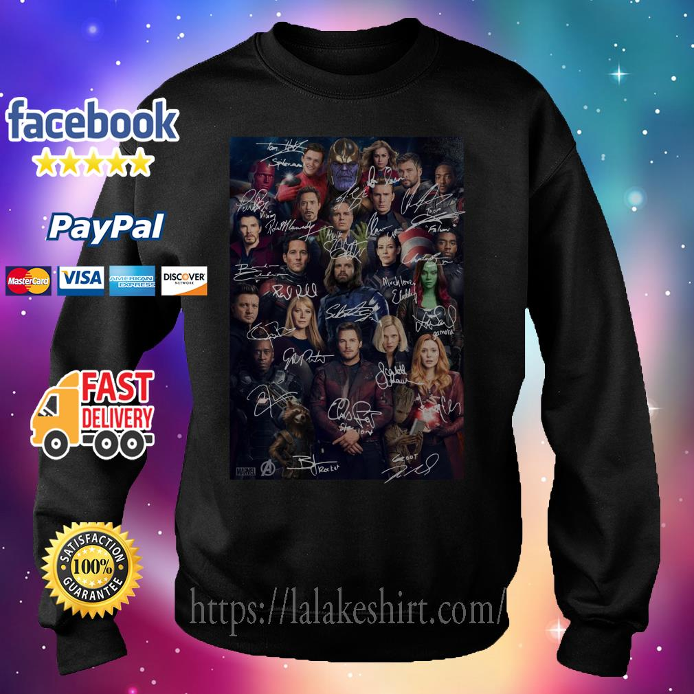 Marvel Avengers endgame poster signature Sweater