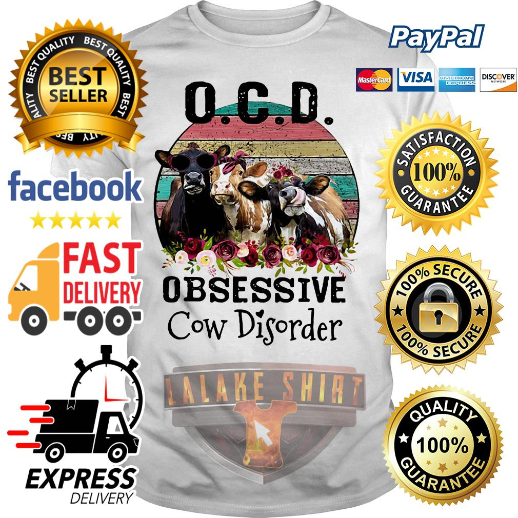 OCD obsessive cow Disorder vintage shirt