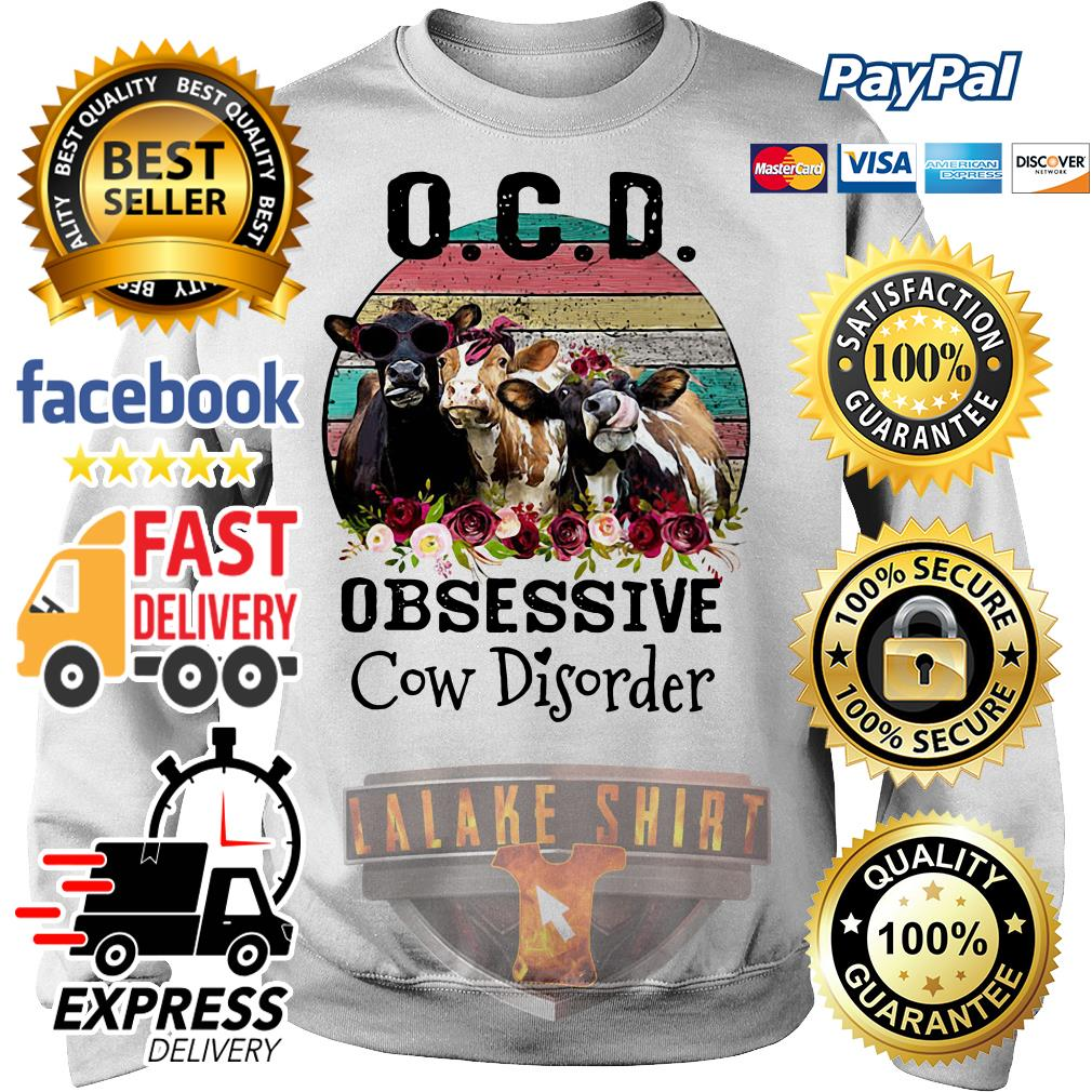 OCD obsessive cow Disorder vintage Sweater