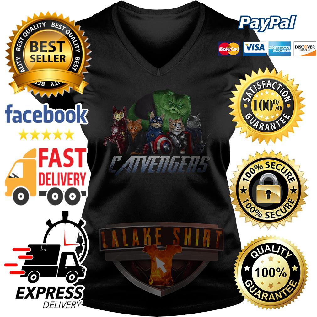Offcial The Catvengers V-neck t-shirt