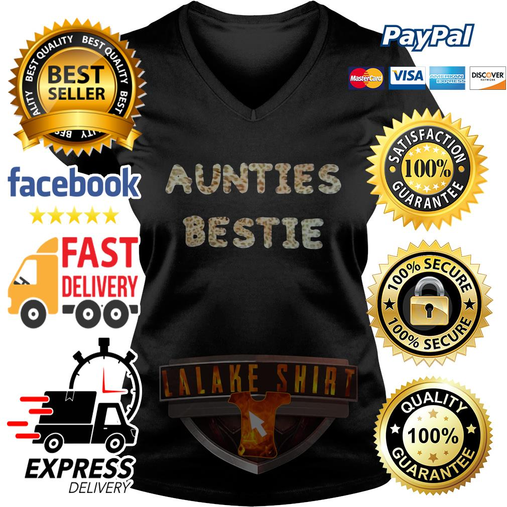 Official Aunties bestie V-neck t-shirt
