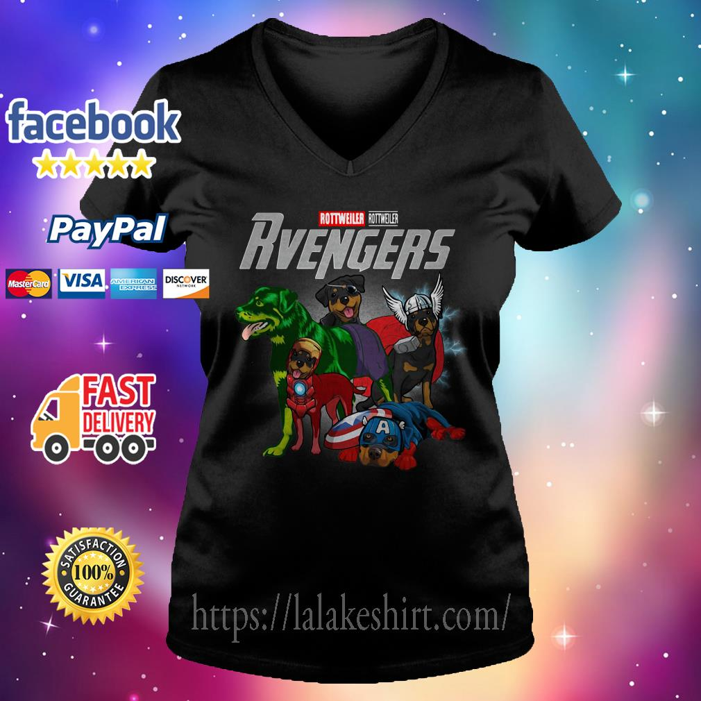 Rottweiler Rottweiler Rvengers V-neck t-shirt