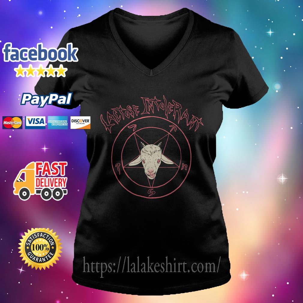 Satan Lactose intolerant V-neck t-shirt