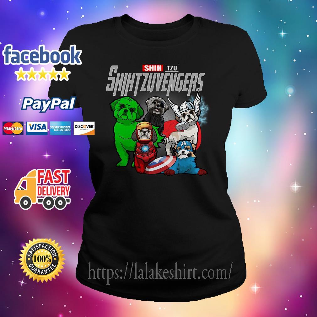 Shih Tzu Shih Tzu Avengers Ladies tee