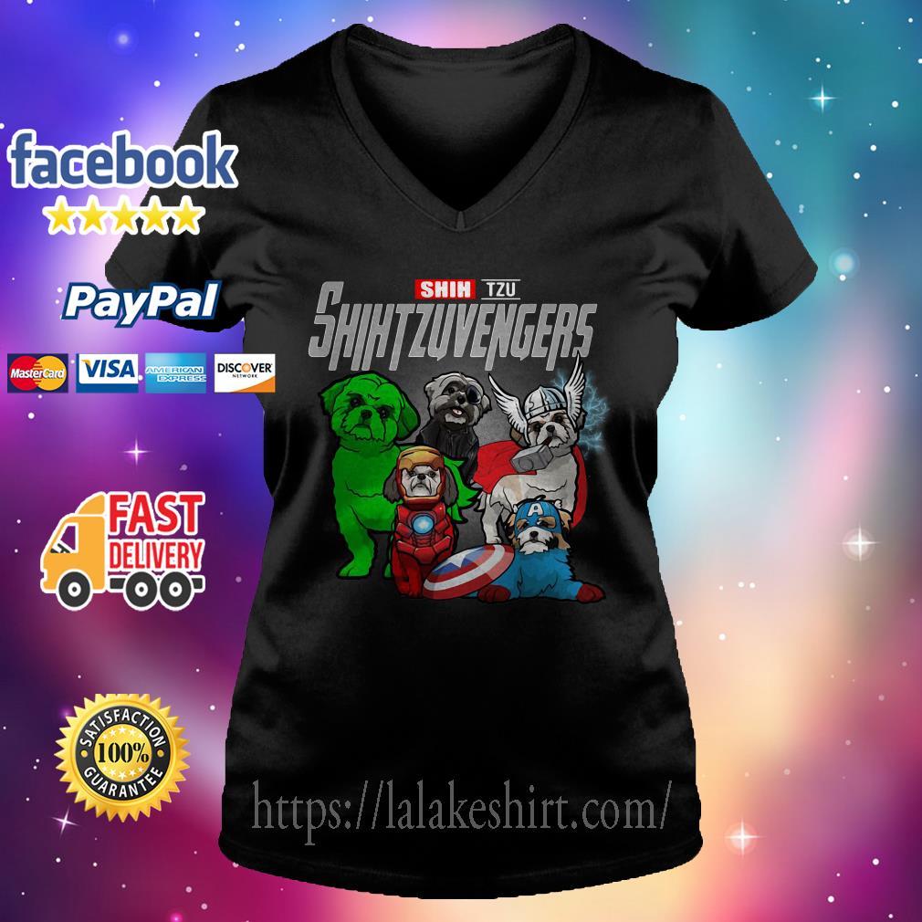 Shih Tzu Shih Tzu Avengers V-neck t-shirt