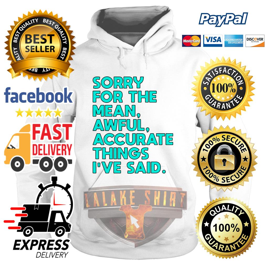 Sorry for the mean awful accurate things I've said Hoodie