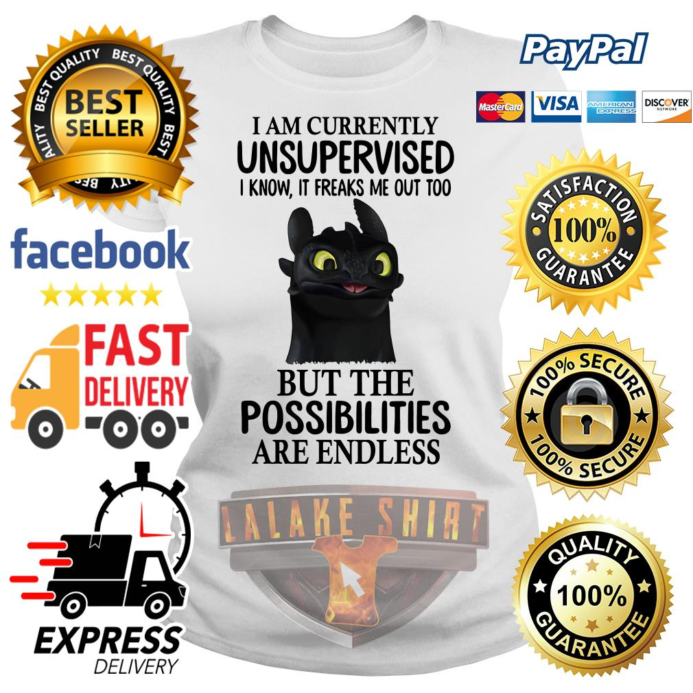 Toothless I am currently I know it freaks me out too but the possibilities are endless Ladies tee