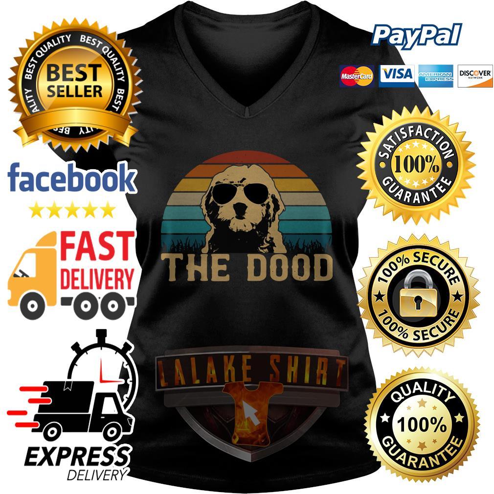 Vintage Goldendoodle The Dood V-neck t-shirt