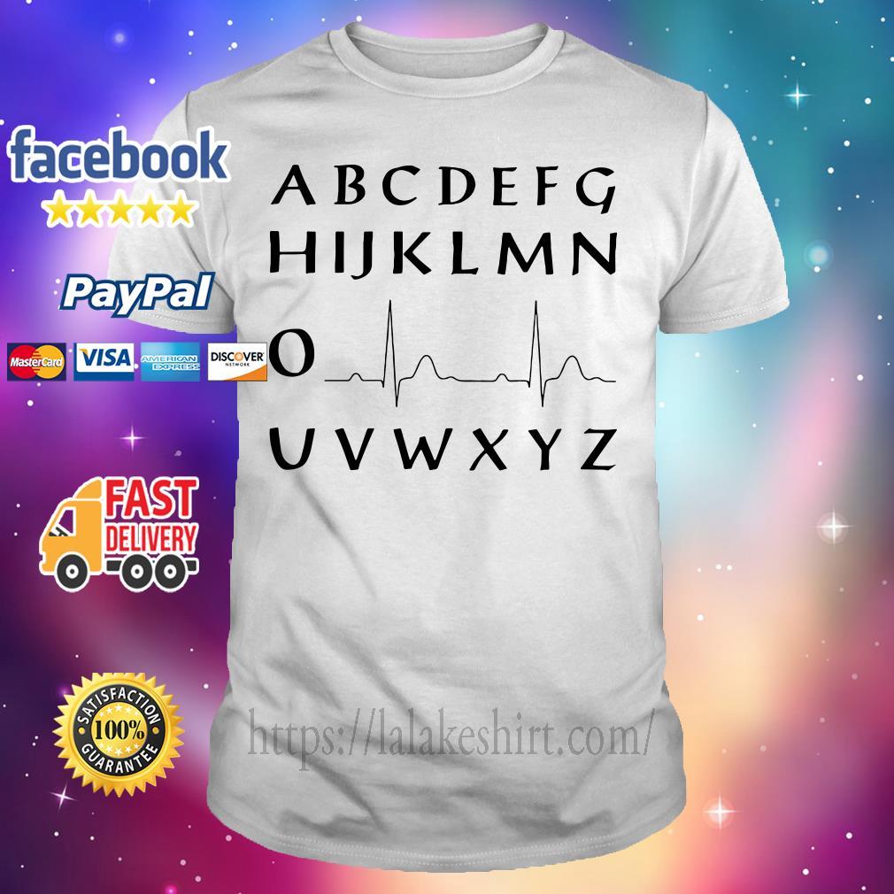 Alphabet heartbeat shirt