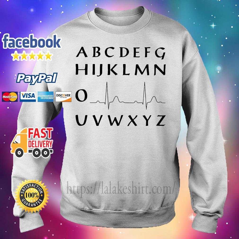 Alphabet heartbeat Sweater