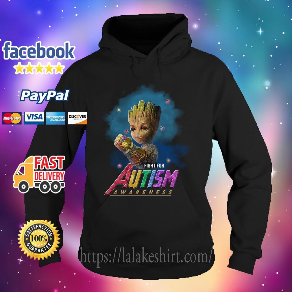 Baby Groot Infinity Gauntlet fight for Autism awareness Hoodie