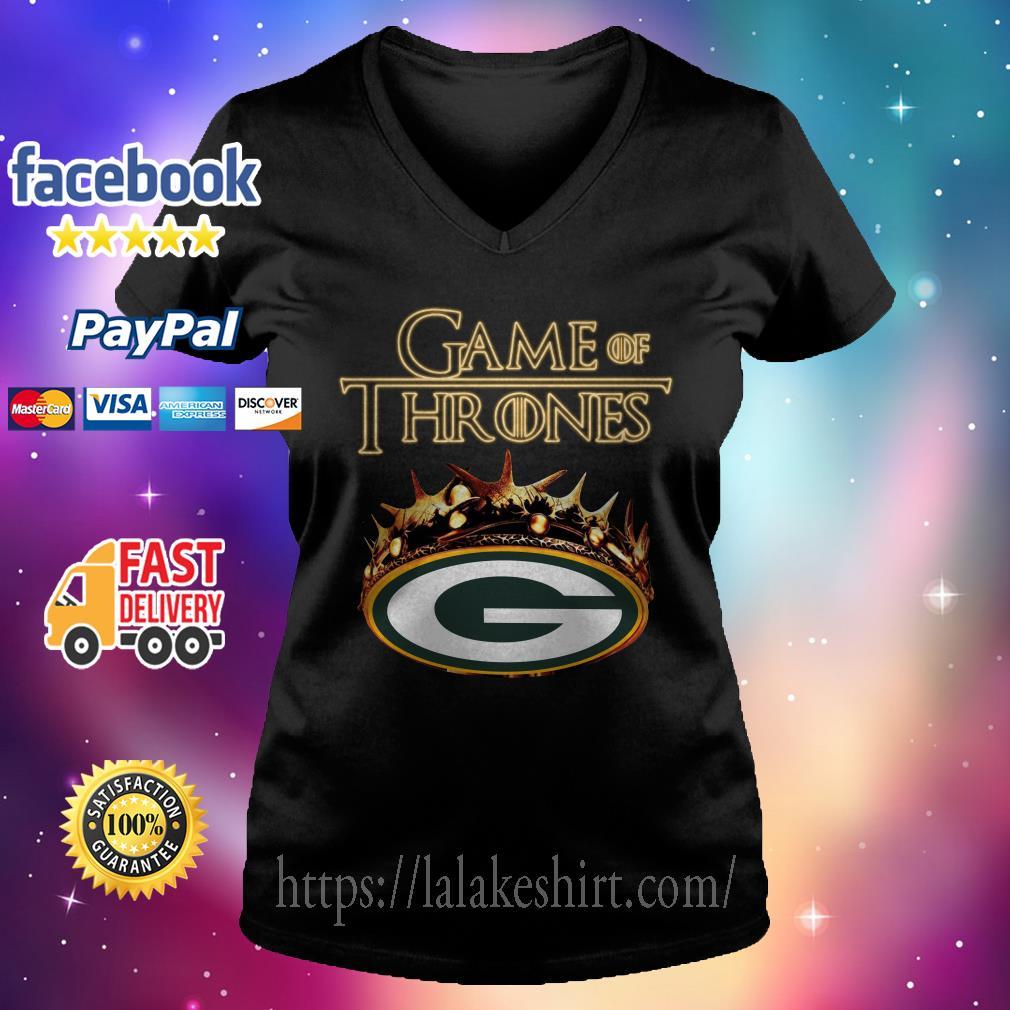 Game of Thrones green bay V-neck t-shirt