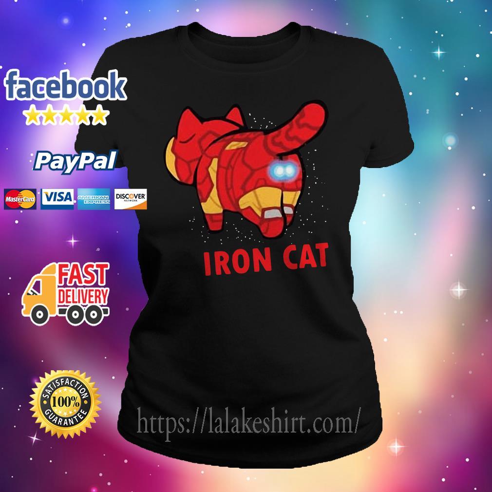 Iron Man Iron Cat Avengers Ladies tee