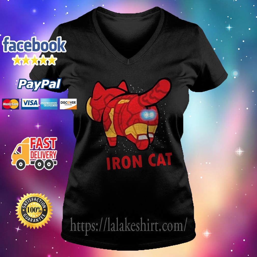 Iron Man Iron Cat Avengers V-neck t-shirt