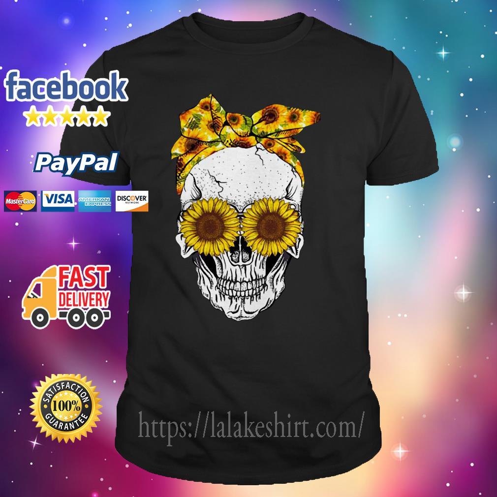 Lady Sunflower Skull shirt