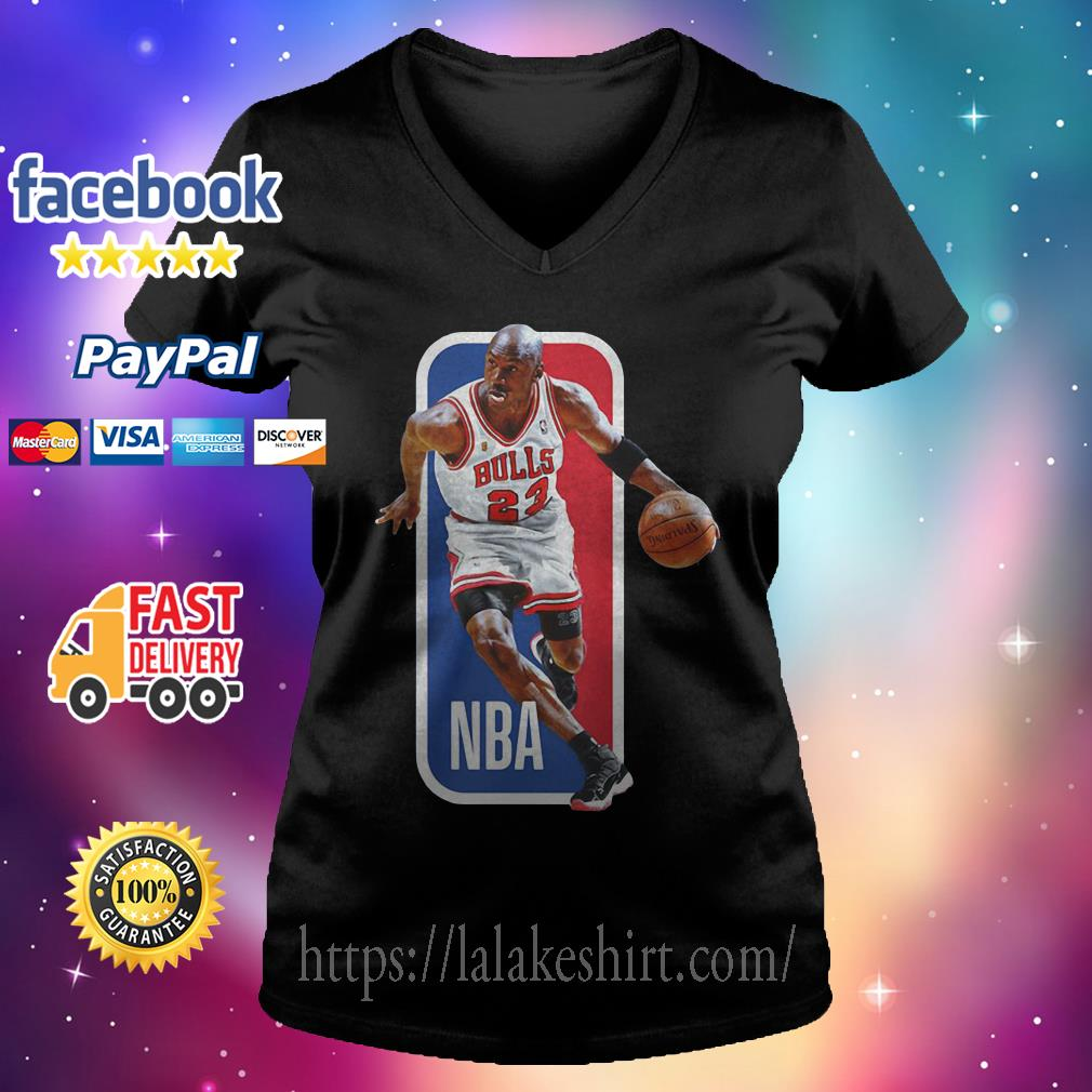 Michael Jordan Chicago Bulls NBA basketball V-neck t-shirt