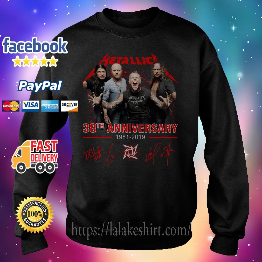 Official Metallica 38th anniversary 1981 2019 signature Sweater