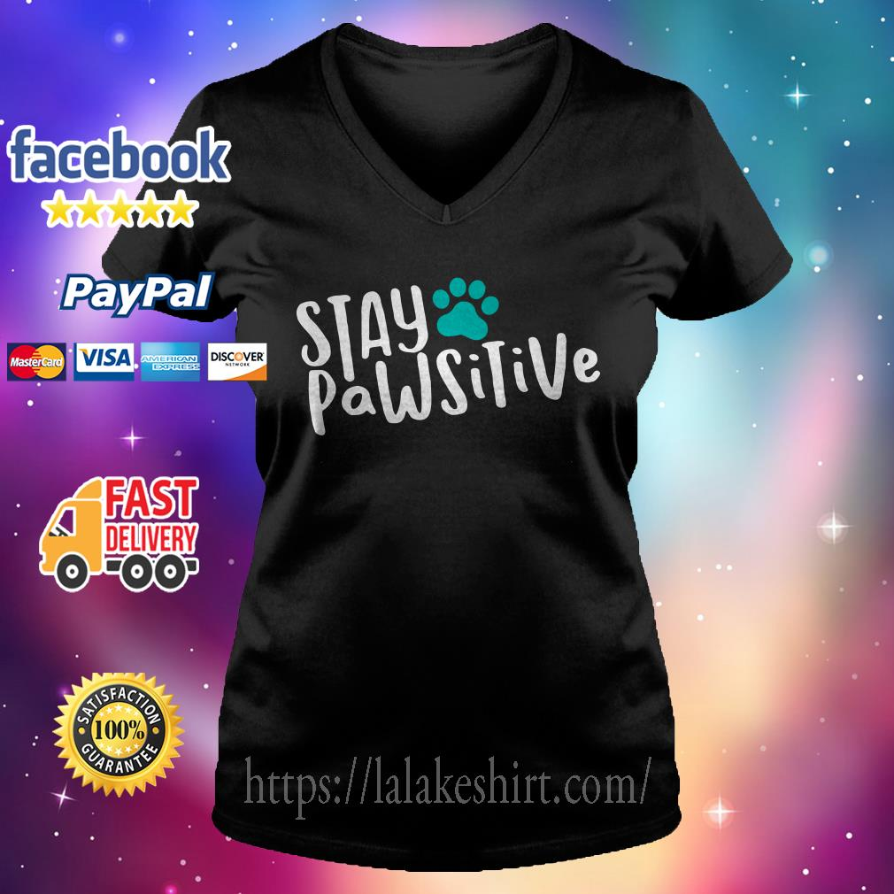 Official Stay pawsitive V-neck t-shirt