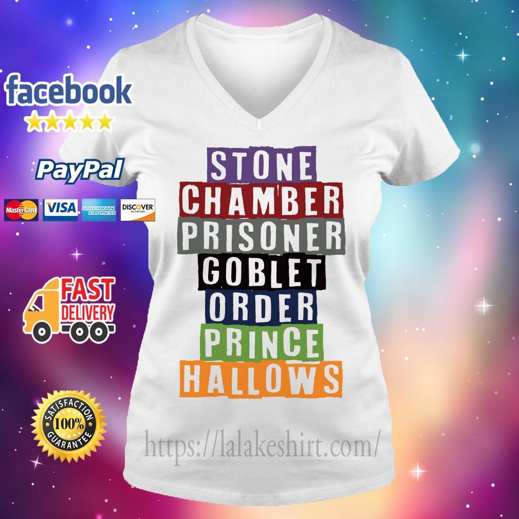 Stone chamber prisoner goblet order prince hallows V-neck t-shirt