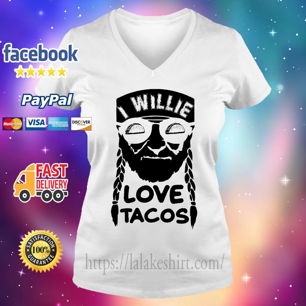 I willie love tacos V-neck t-shirt