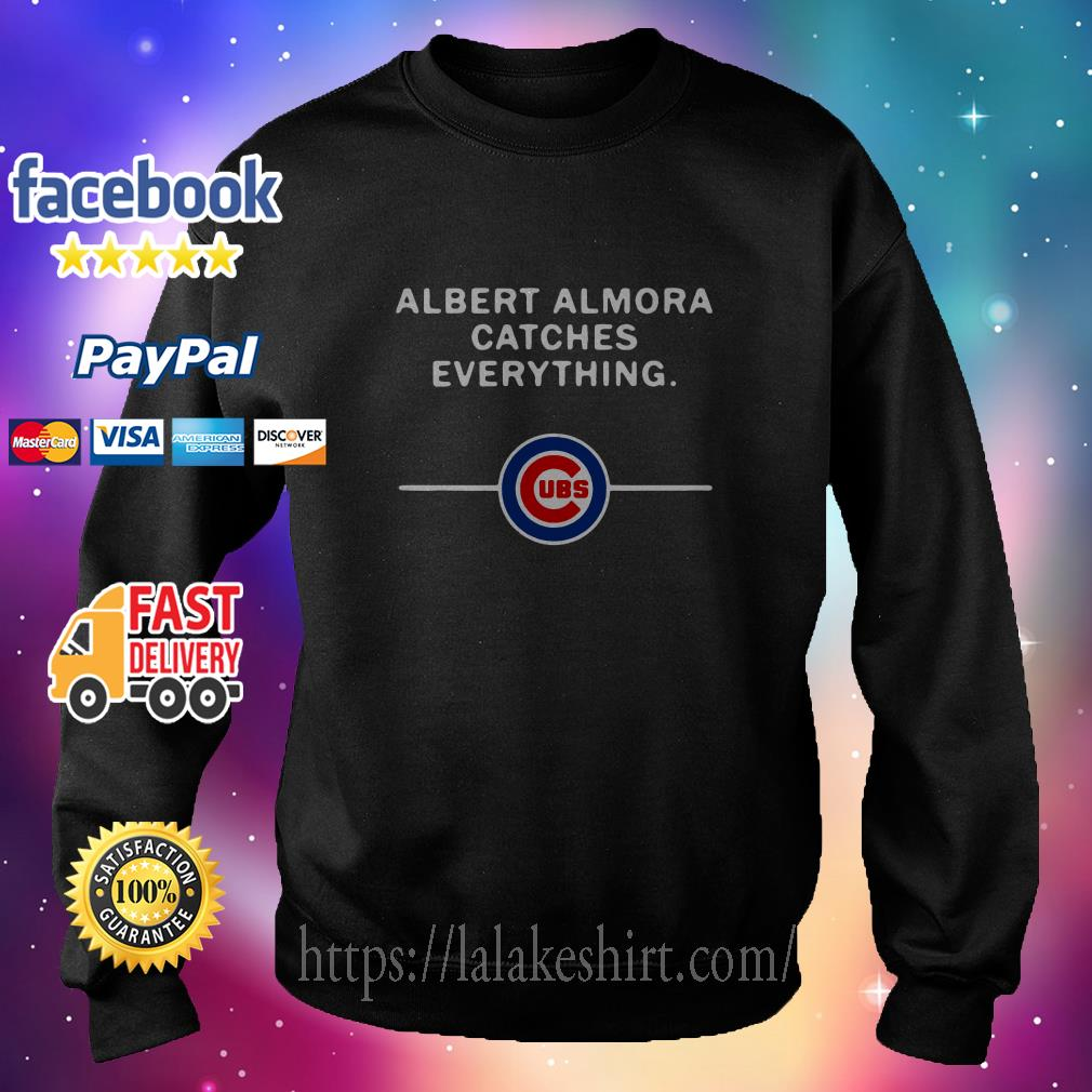 Albert Almora catches everything Chicago Cubs sweater