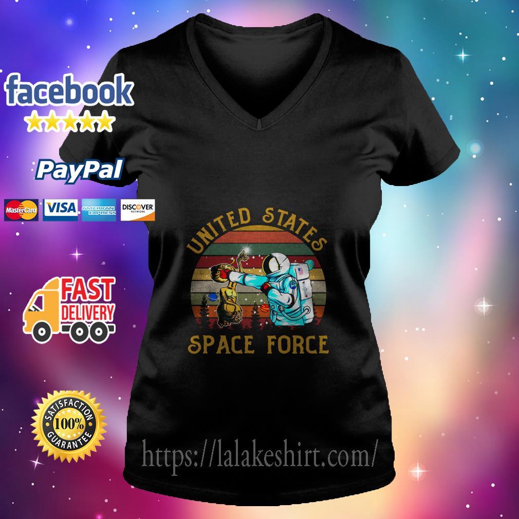 Alien United States space force v neck t shirt