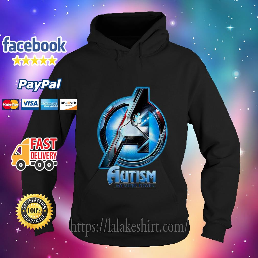 Avenger logo Autism my super power hoodie