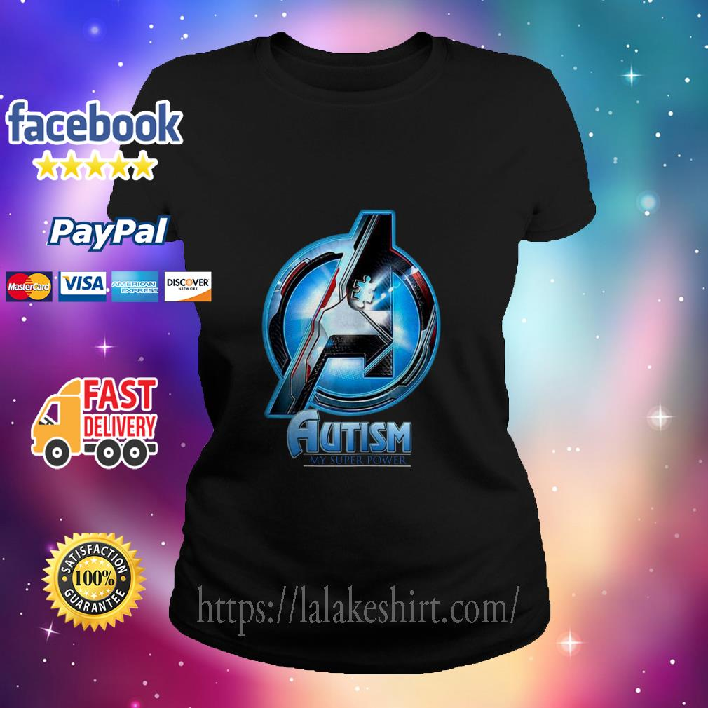 Avenger logo Autism my super power ladies tee