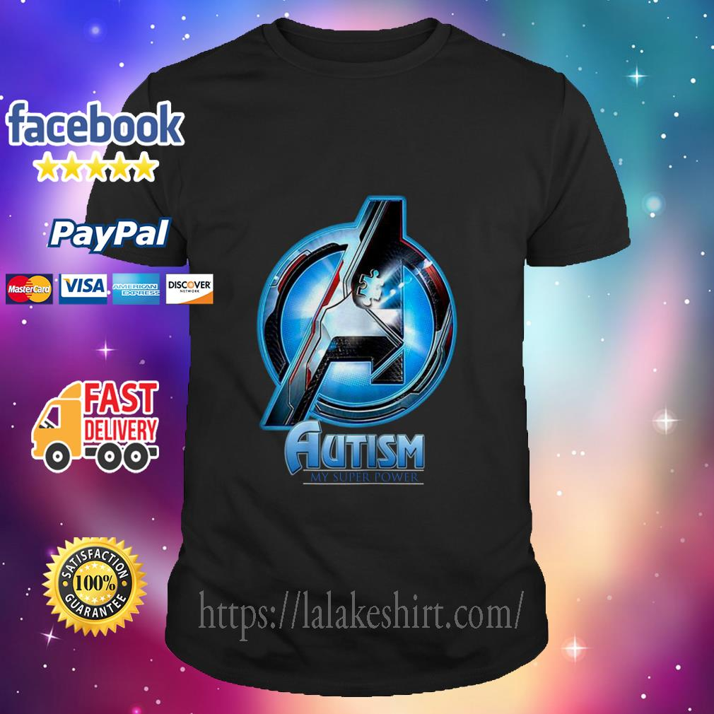 Avenger logo Autism my Super power shirt