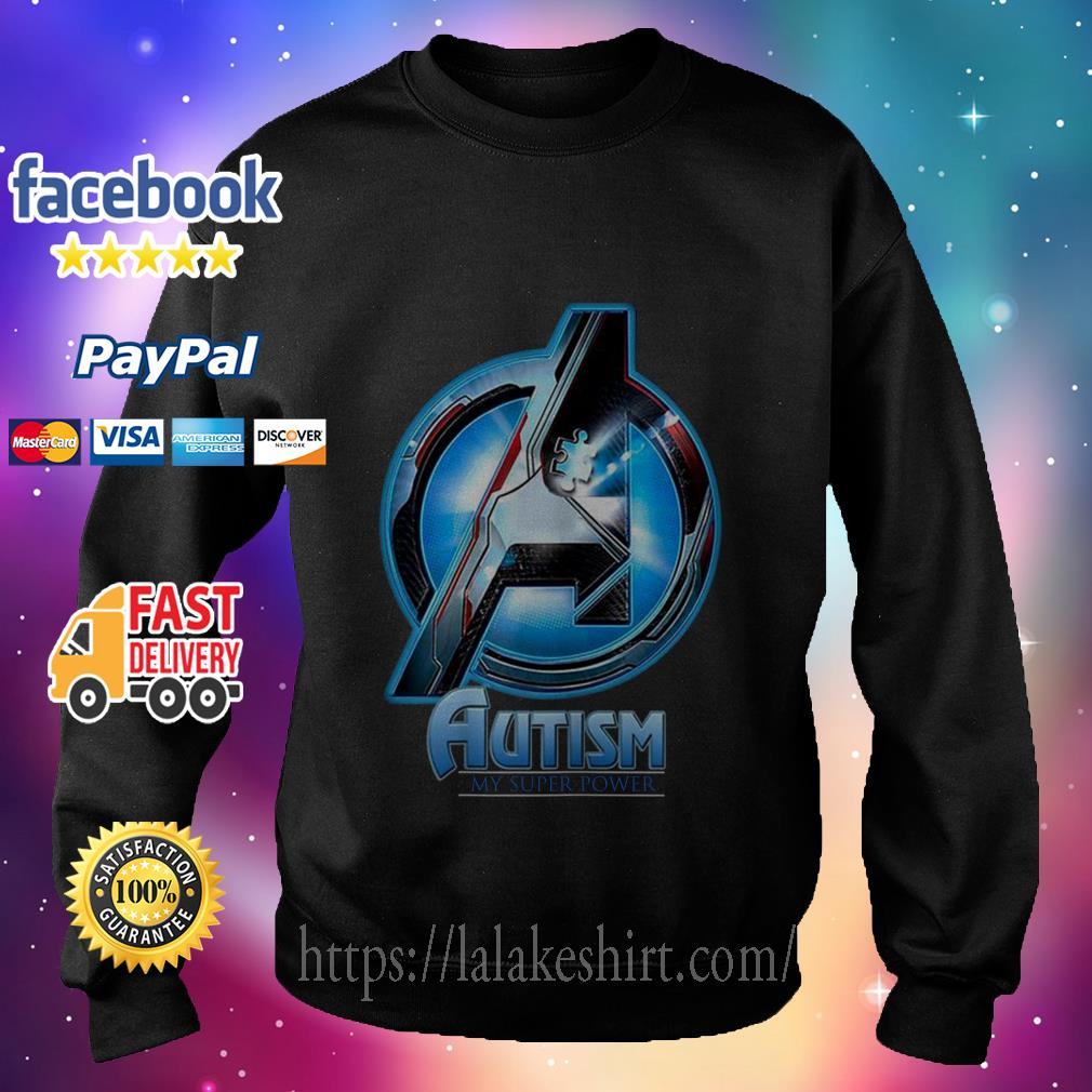 Avenger logo Autism my super power sweater