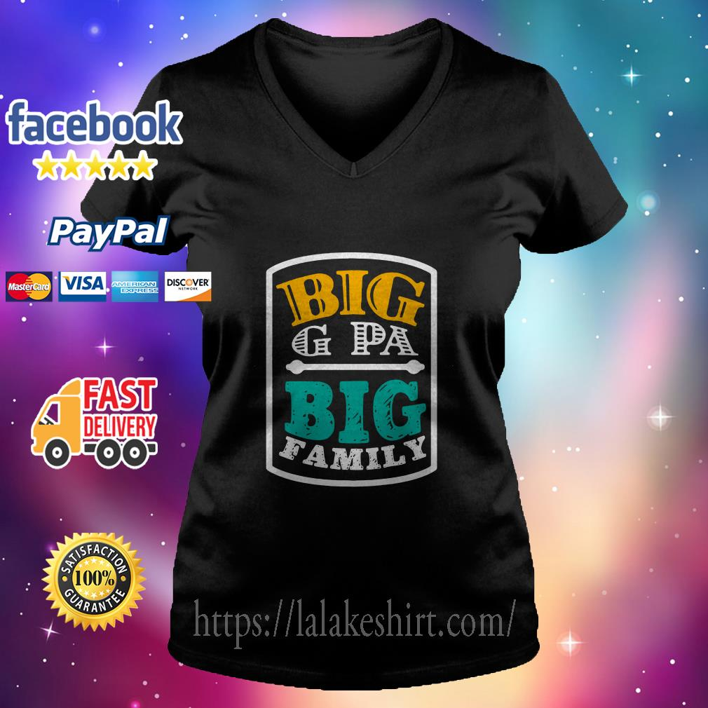 Big G Pa big family v neck t shirt