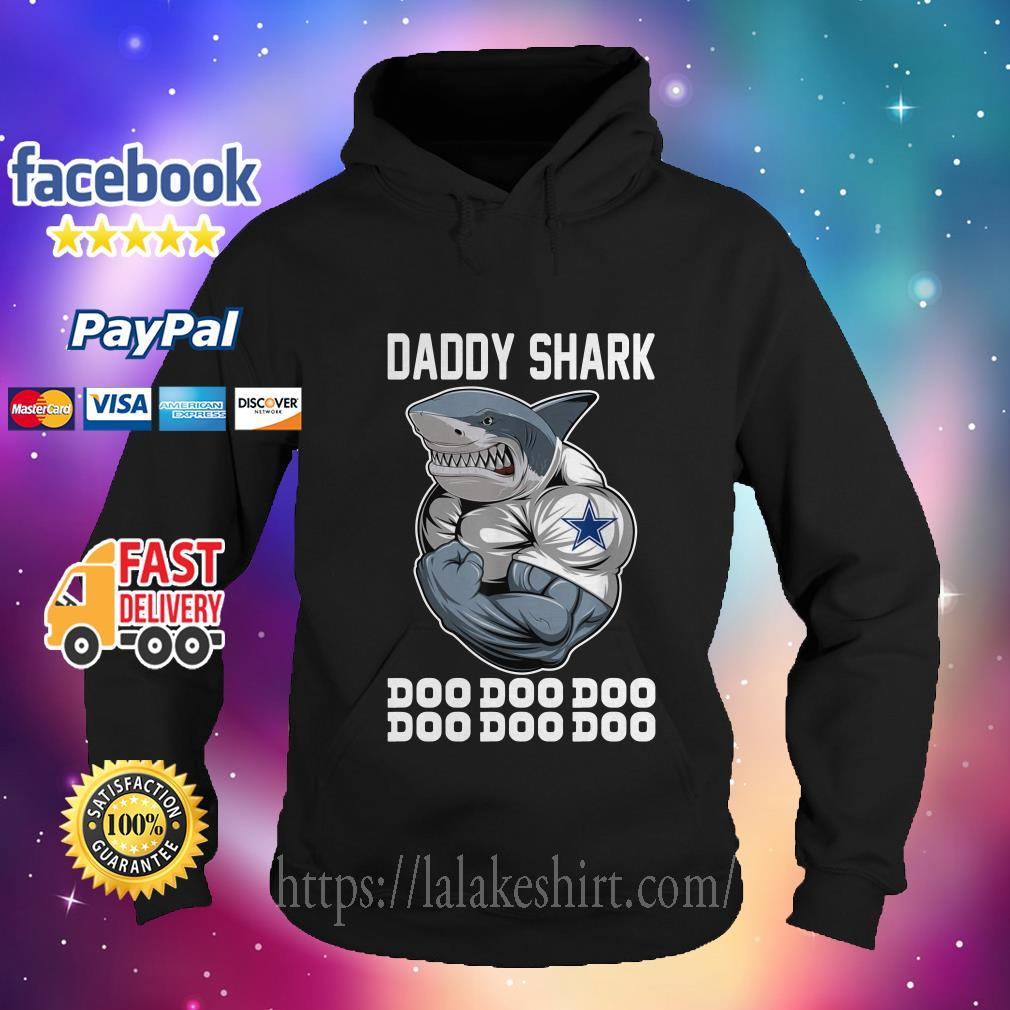 Daddy Shark-Body Building Dallas Cowboy Doo Doo hoodie
