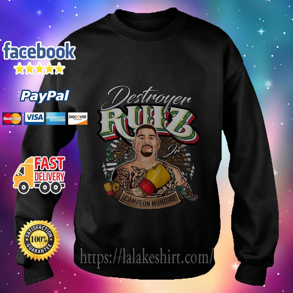Destroyer Ruiz Jr world champion sweater