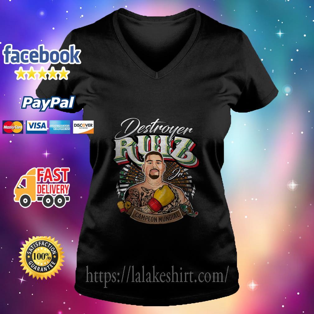 Destroyer Ruiz Jr world champion v neck t shirt