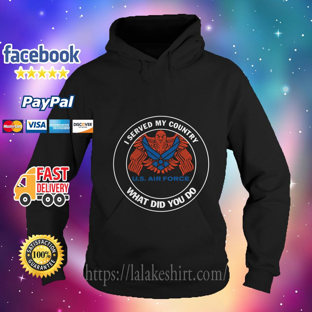 I served my country US navy what did you do hoodie