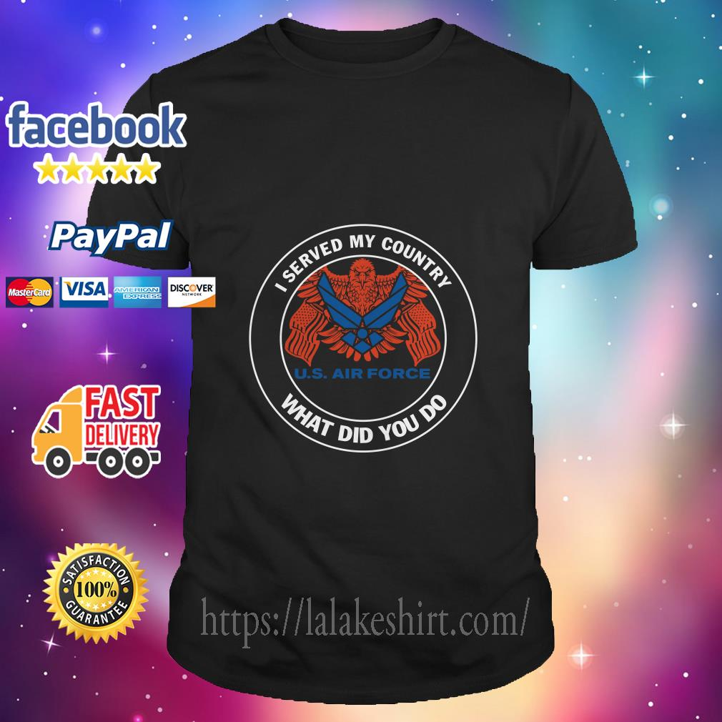 I served my country US navy what did you do shirt