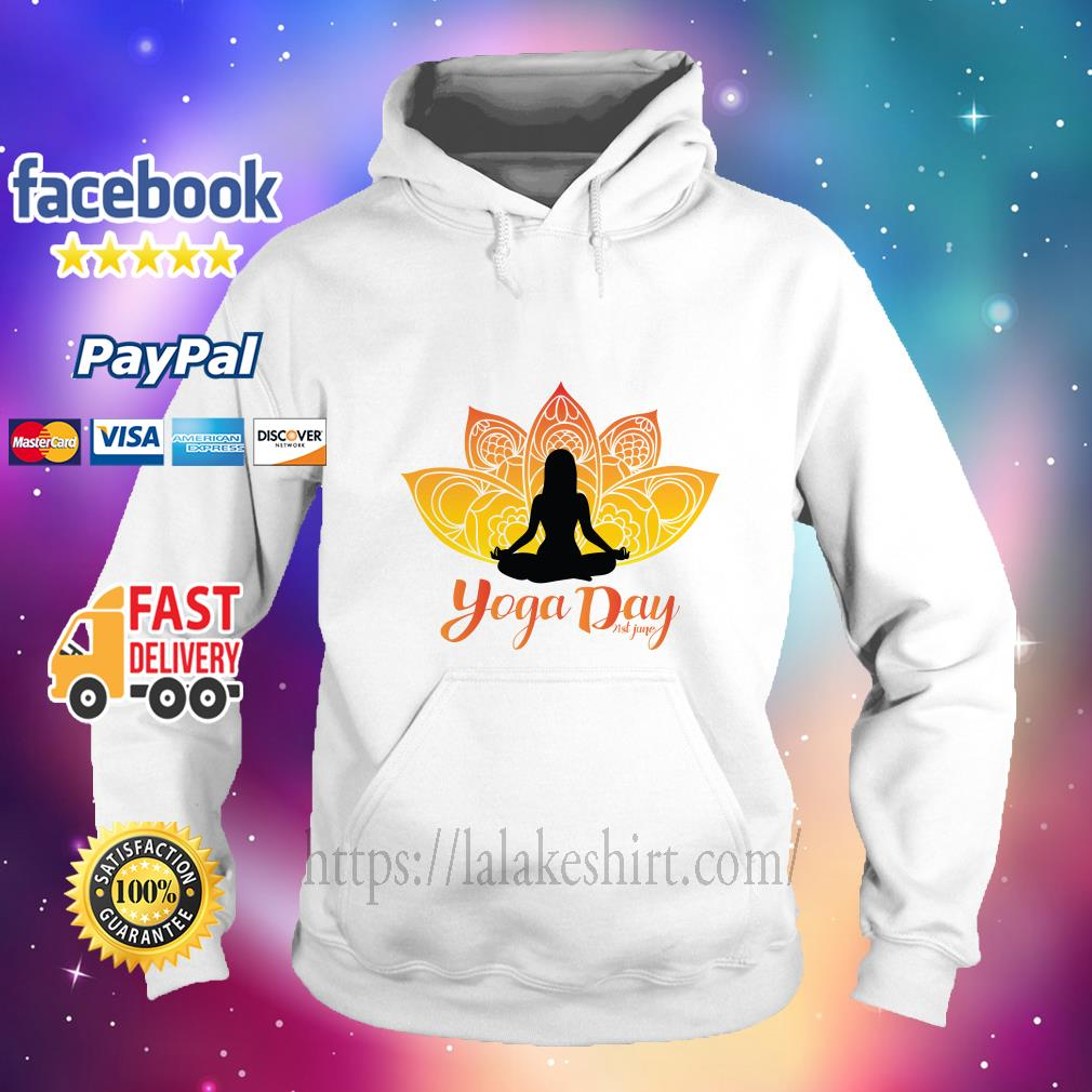 International Yoga Day hoodie
