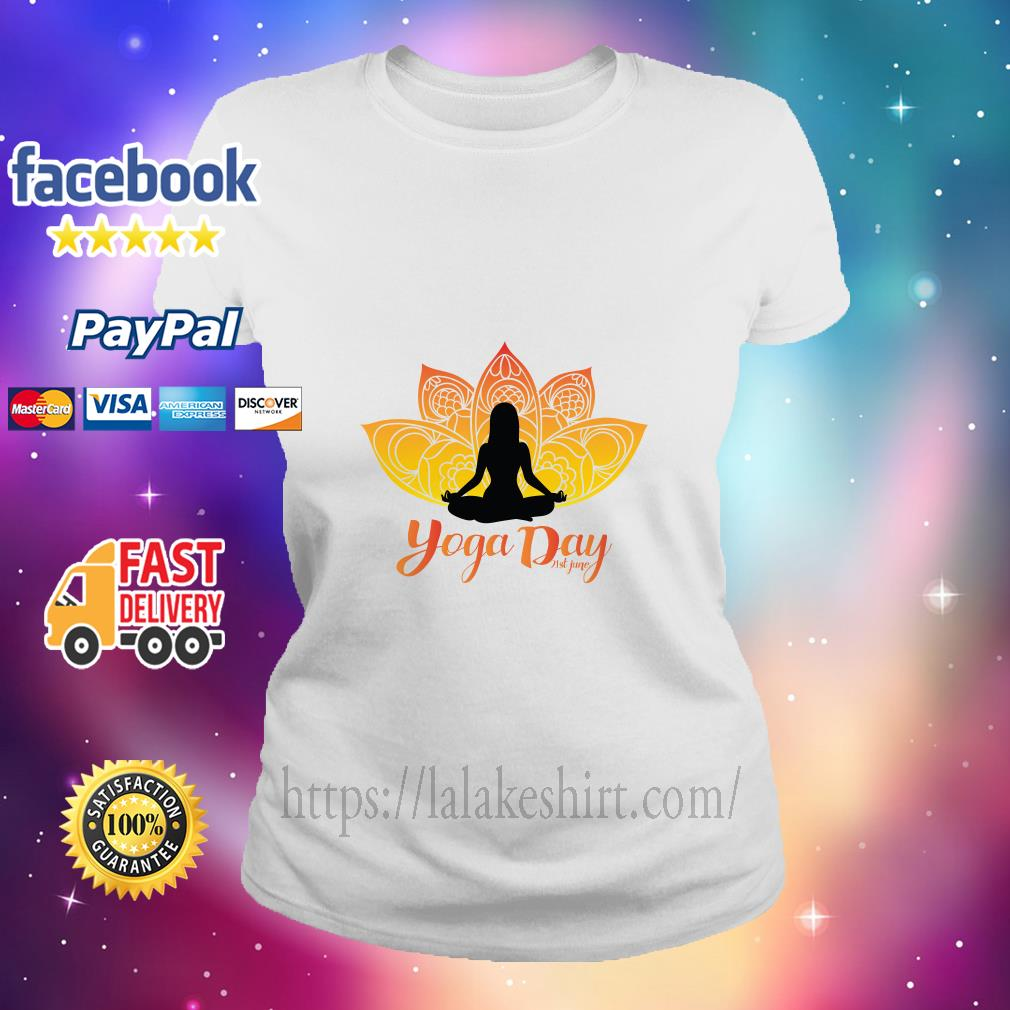 International Yoga Day ladies tee