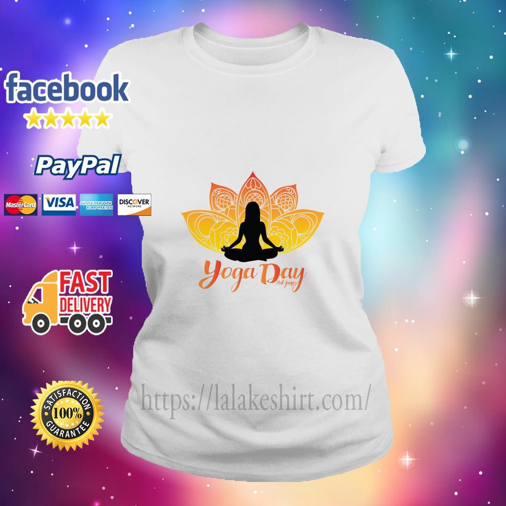 International Yoga Day ladies tee