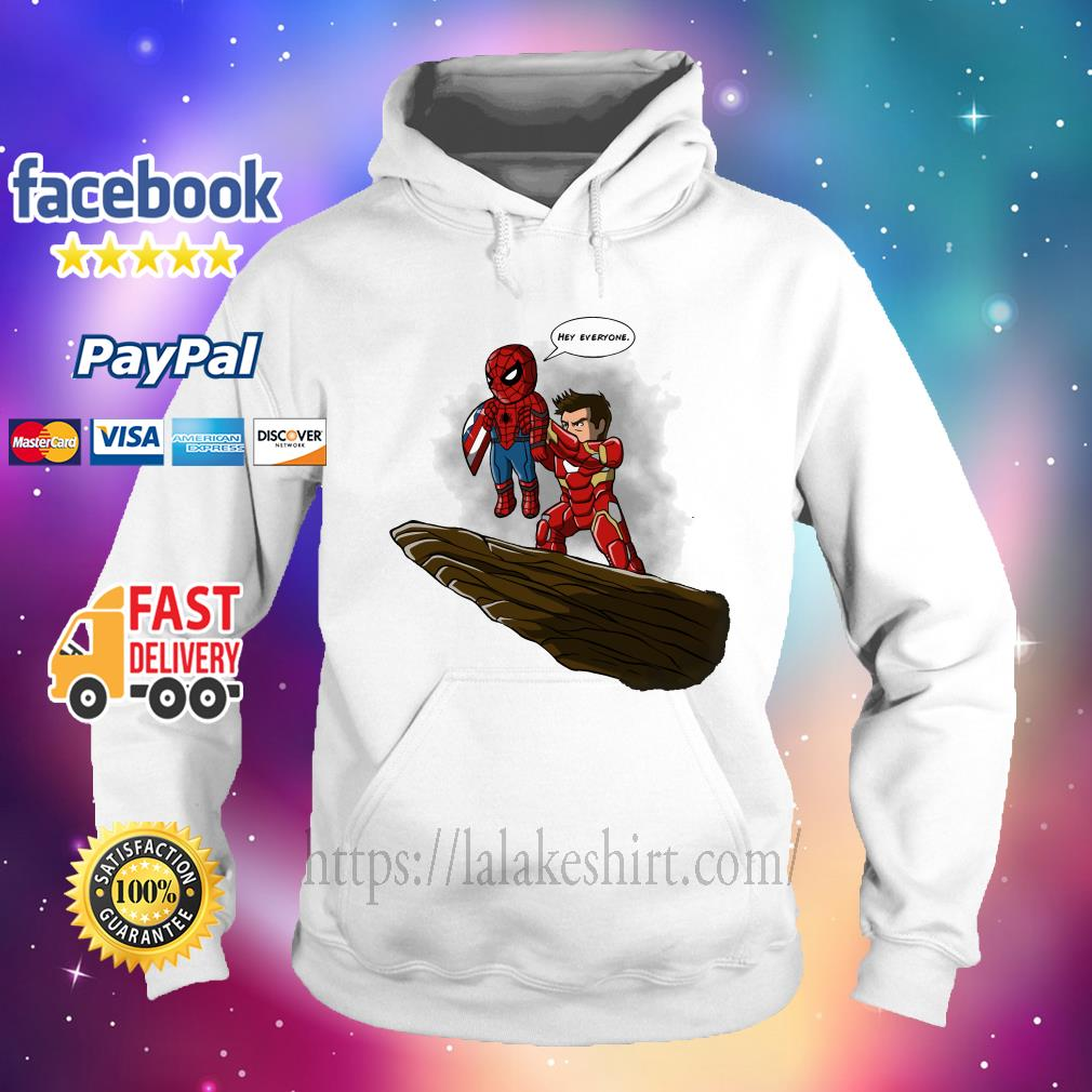 Lion King Spider Man And Iron Man hey everyone hoodie