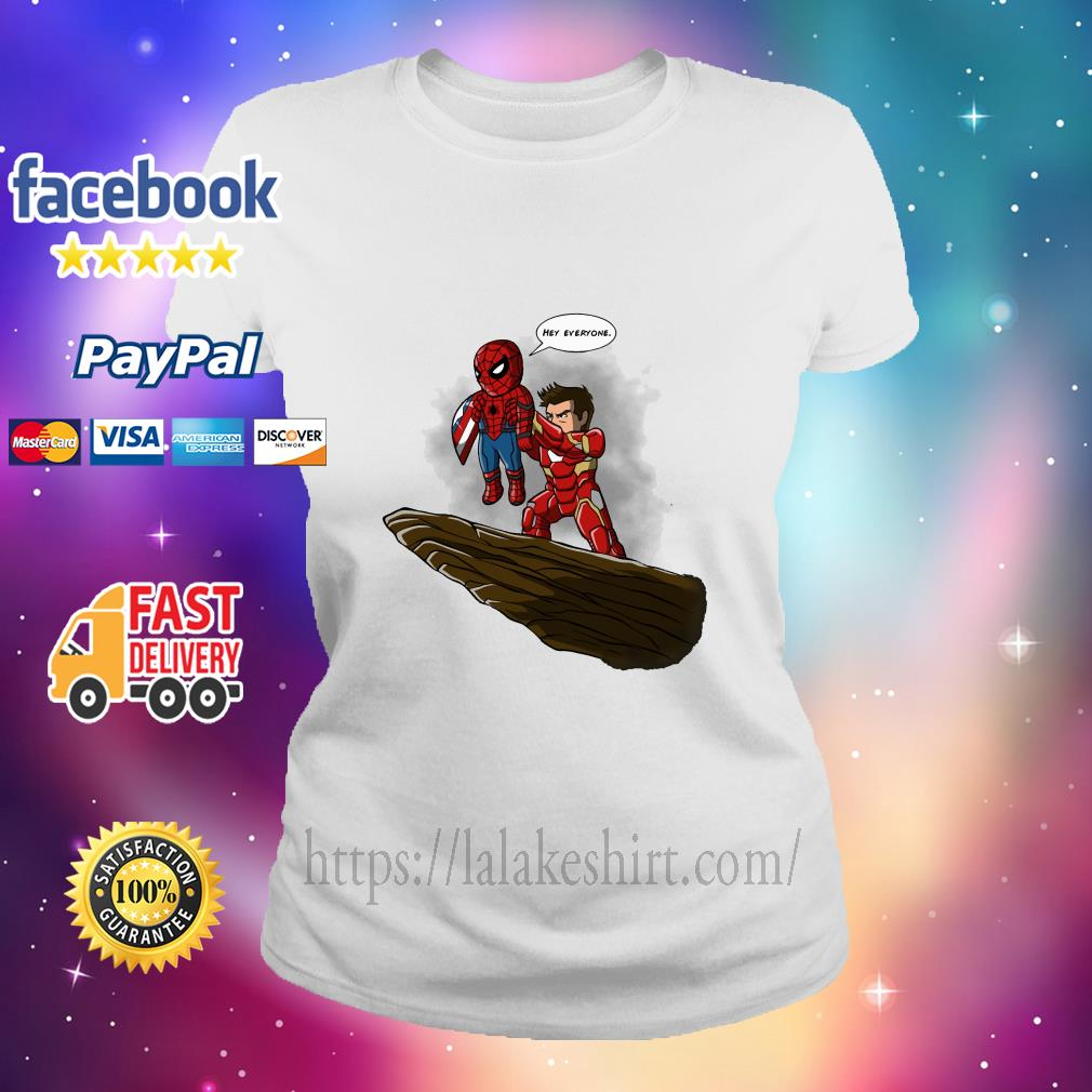 Lion King Spider Man And Iron Man hey everyone ladies tee