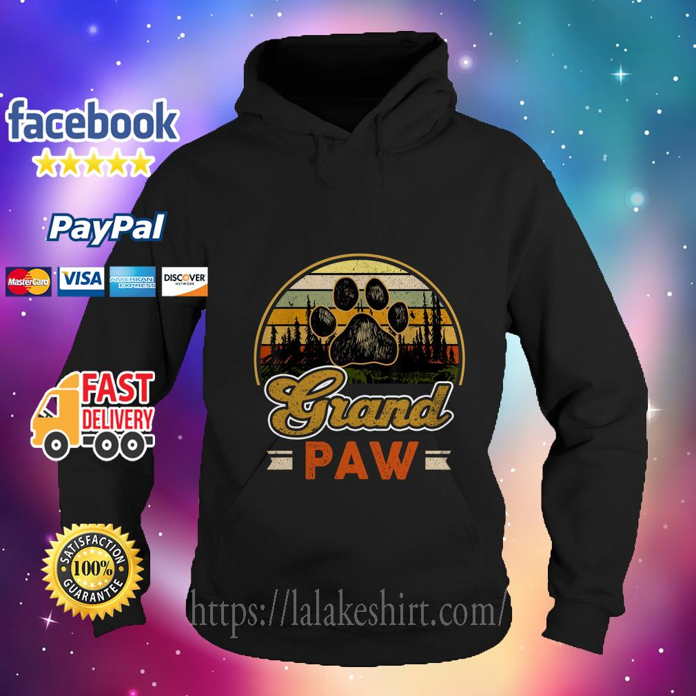 Vintage grand paw dog lover hoodie