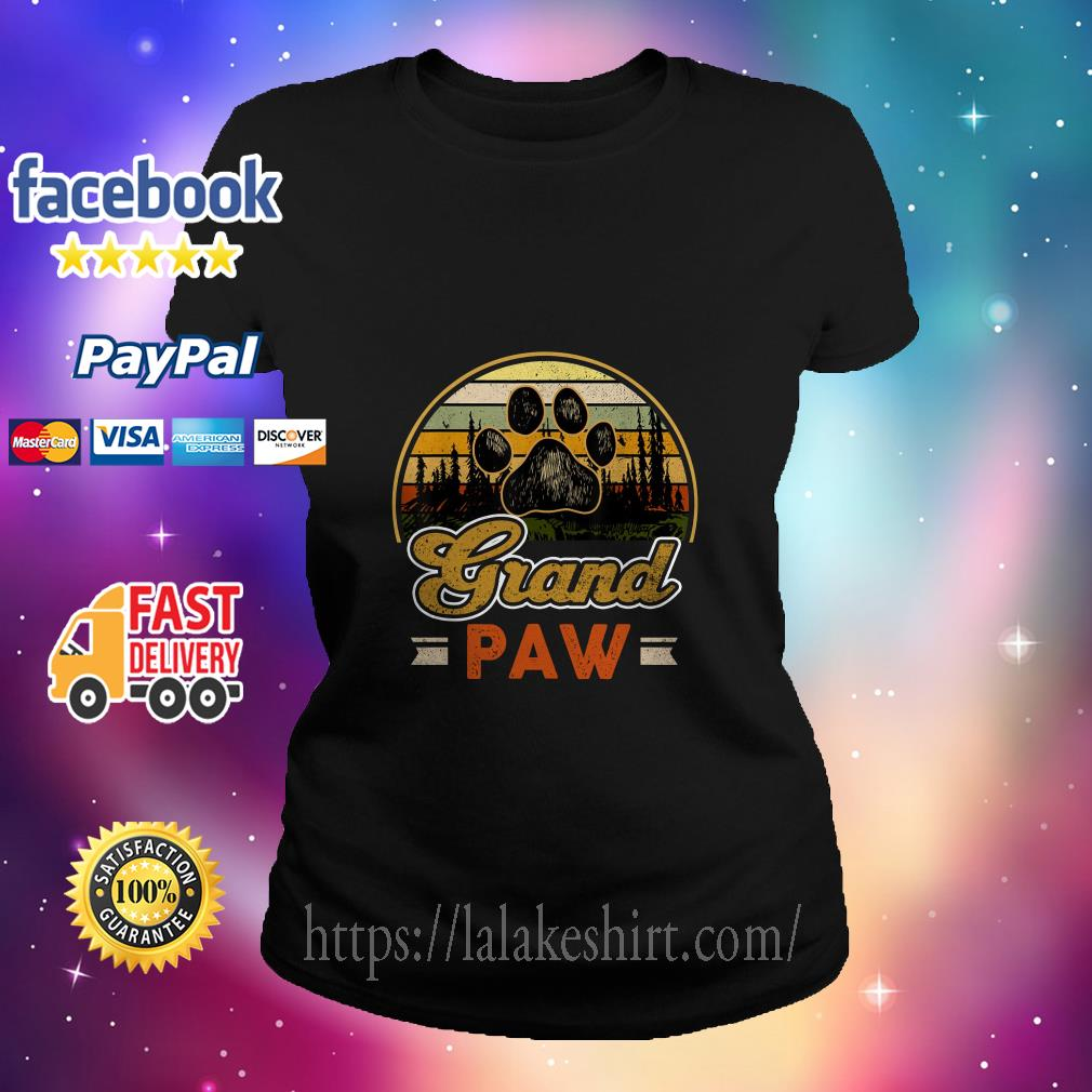 Vintage grand paw dog lover ladies tee